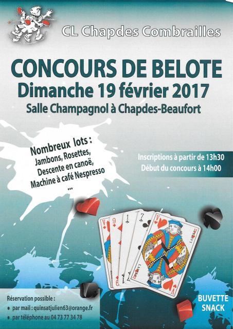 Affiche belote 2017