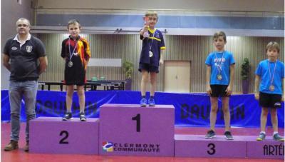 Antonin deuxième en poussin 1 du top départemental