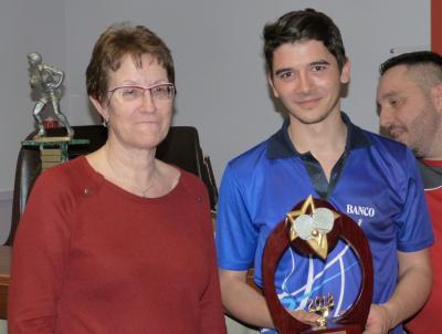 Christiane et Corentin gagnant du tournoi