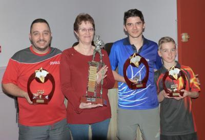 les finalistes du tournoi avec Christiane